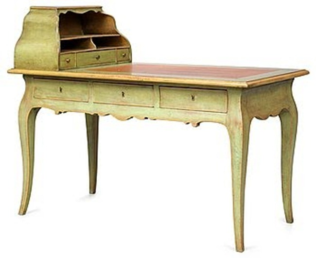Foto 4 swedish antiques blogspot 2010-05 Bukowski Swedish Rococo Writing Desk 882