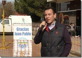 Marcelo Bonavita en inauguración de extensión de red de gas