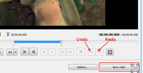 การยกเลิกขั้นตอนการตัดต่อวีดีโอ