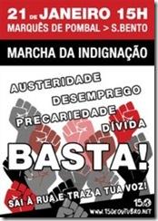 Marcha da Indignação Lisboa.Jan 2012