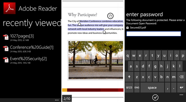 Adobe Reader para Windows Phone