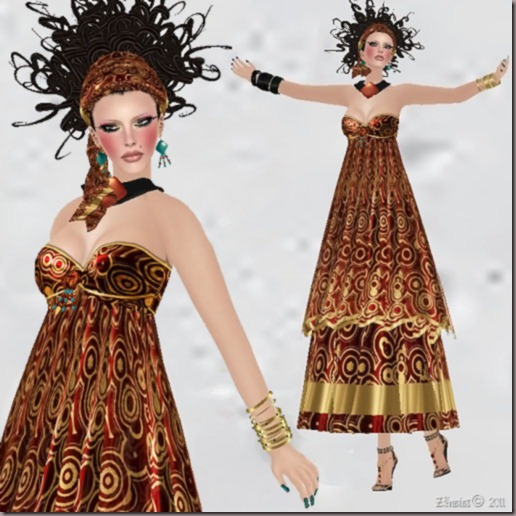 aDiva couture Inspiration Red Earth