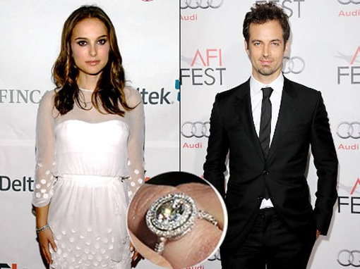 natalie portman and benjamin millepied engagement ring