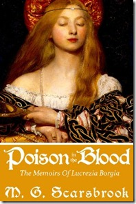 Book Cover of Poison in the Blood by M.G. Scarsbrook