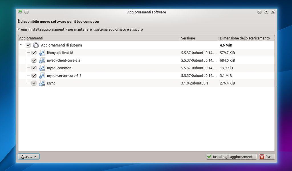 Kubuntu 14.04 - Gestore Aggiornamenti