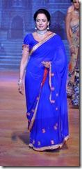 hema-malini in blue saree