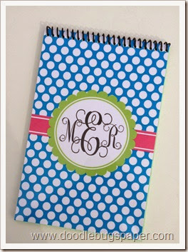 notebookbluedotsmonogram