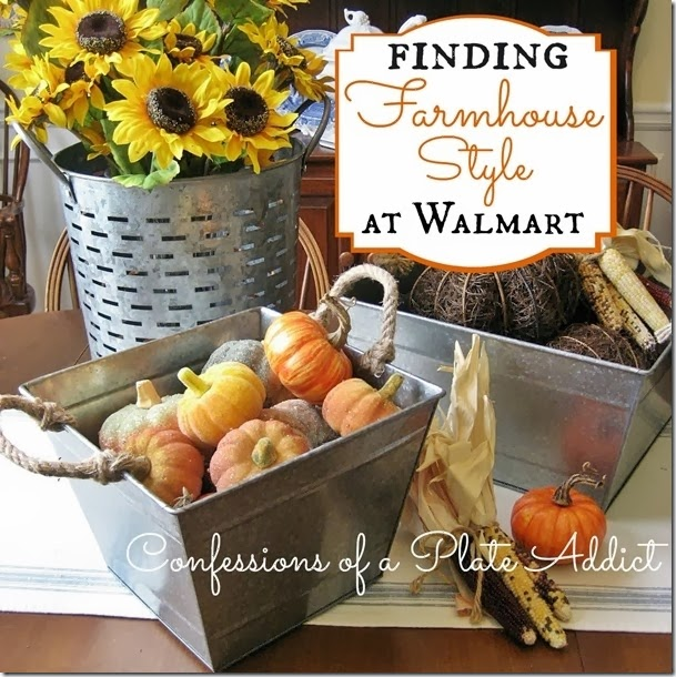 CONFESSIONS OF A PLATE ADDICT Finding Farmhouse Style at Walmart
