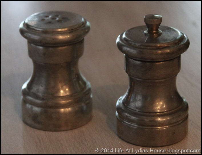 pewter salt and pepper mill