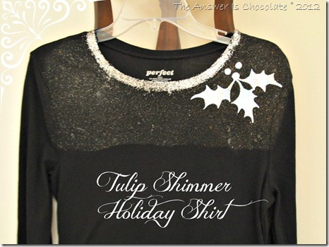 Tulip Shimmer Sheet Holiday Shirt