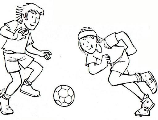 Niños futbolistas para colorear - Imagui