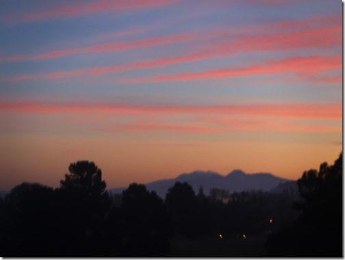 May sunset Taupo New Zealand