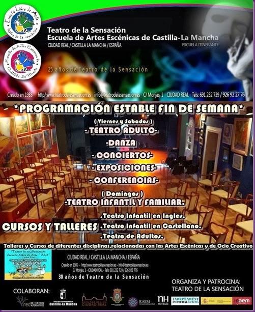 CARTELON ACTIVIDADES TEATRO DE LA SENSACION