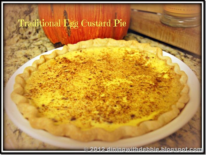 Traditional Egg Custard Pie Recipe