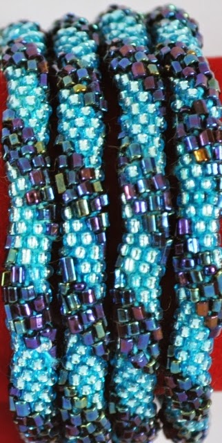 Blue Rollover Bracelets of Nepal