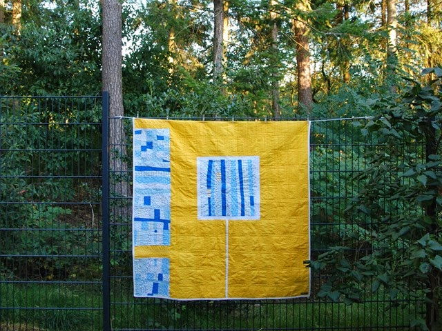 Yellow Improv Quilt outtake