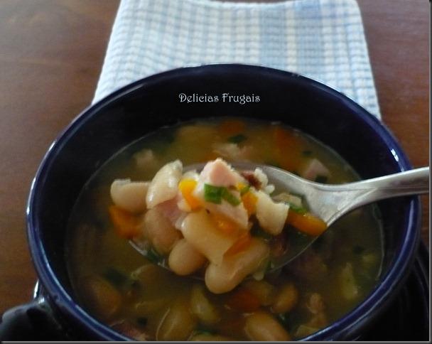 sopa de feijão branco - delicias frugais