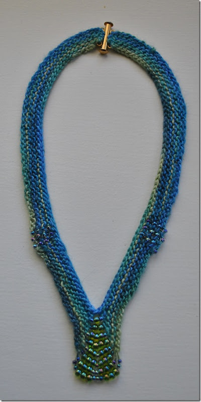 Knitted Beaded Necklace 003