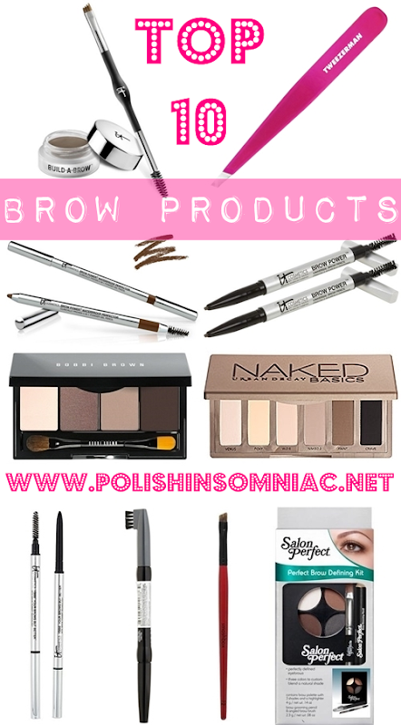 Top 10 Brow Products I can't live without