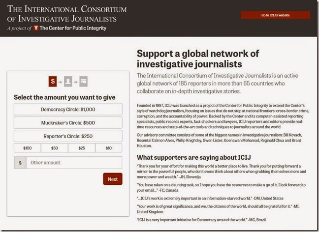Support a global network of investigative journalists