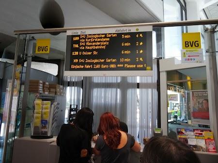 Casa bilete transport Aeroport Berlin Tegel