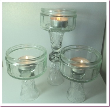 Glass Dish tea Light Holders