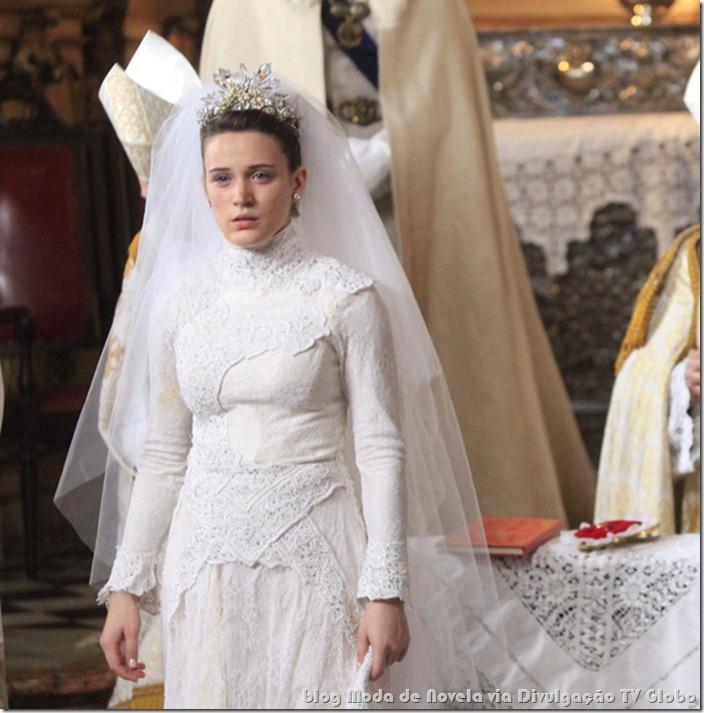 moda da novela cordel encantado - vestido de noiva da açucena