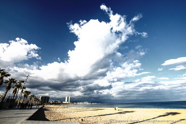 Barcelona Beach filtered HDR