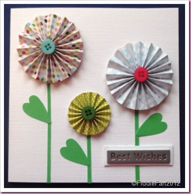 Concertina Flower Card.