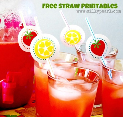 Free Strawberry Lemonade Straw Printables The Silly Pearl