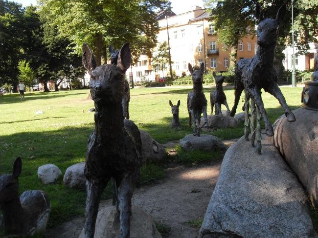 Dådyr i Kungsparken - Malmø juli 2012