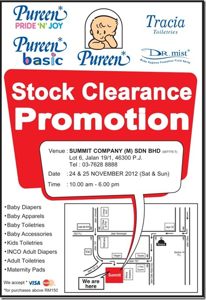 Pureen Stock Clearance 2012 a
