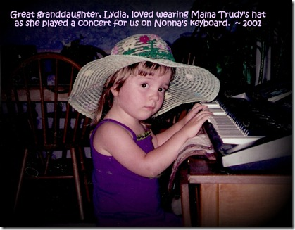 2001 - Lydia and Mama Trudy's hat