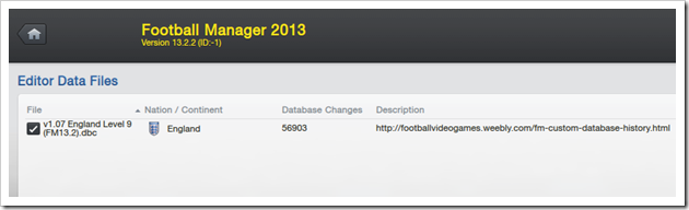 Football Manager 2013_ New Game Editor Data Files