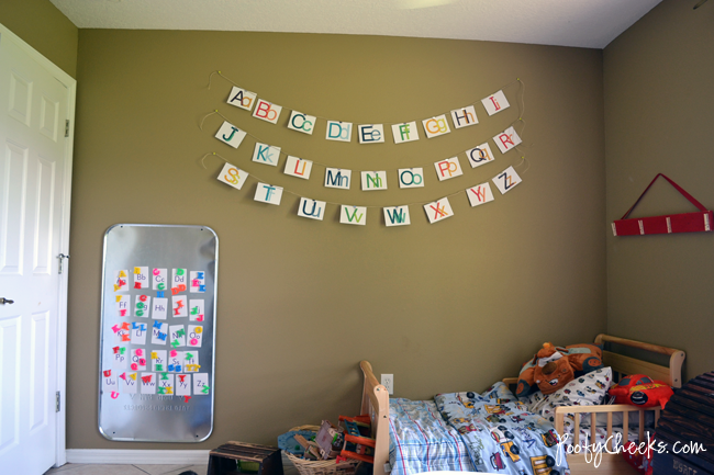 Alphabet Wall Decor by Poofy Cheeks