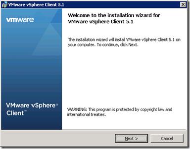35_vSphere Client 5.1 Installation Welcome