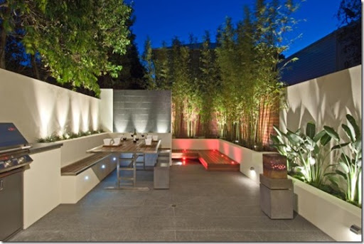 Garden Design, Courtyard, Contemporary, Raised Planters, Water Feature,  Modern Design,