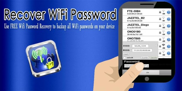 Recover WiFi Password - screenshot
