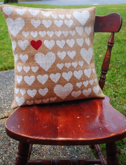 Pottery Barn Heart Pillow Knock Off