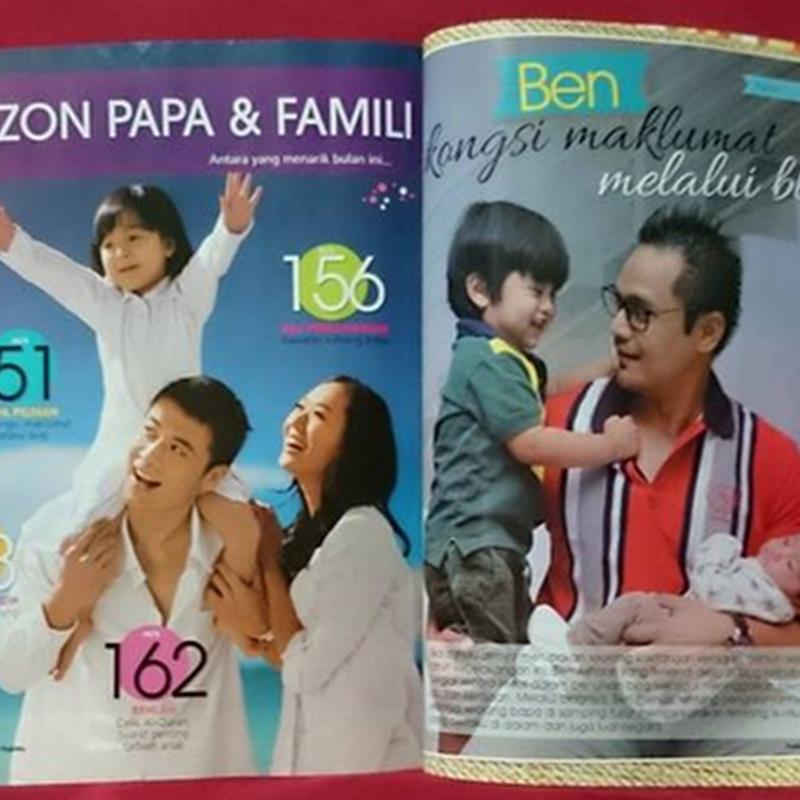 Dalam majalah Pa & Ma keluaran September 2014 .