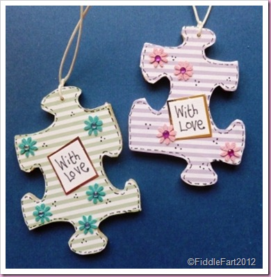 Wooden Jigsaw tags