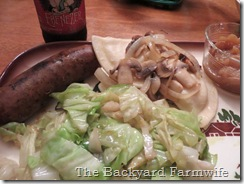 garlic black pepper sausage - The Backyard Farmwife