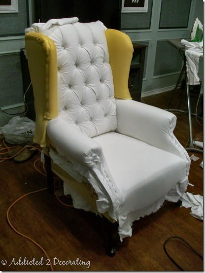 wingback chair progress 1