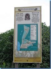 2215 Manitoba Lake Audy Rd West Riding Mountain National Park - Lake Audy Bison Range sign
