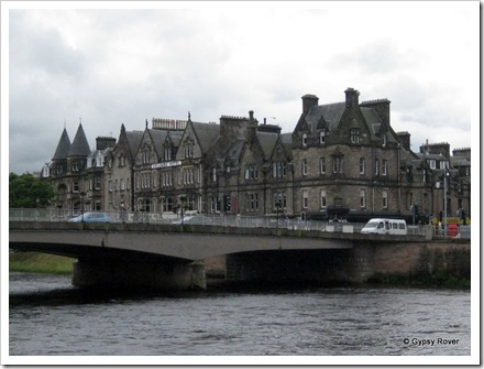 Views along the river Ness through Inverness.