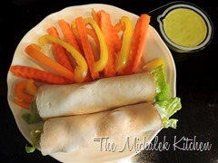 Deli Rotisseri Chicken Wraps w Bell Peppers n Carrots