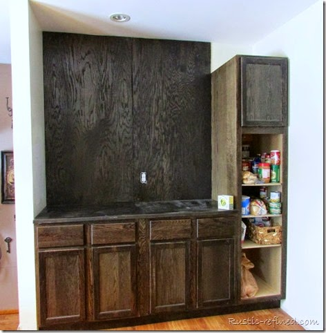 Building a butlers pantry using stock kitchen cabinets