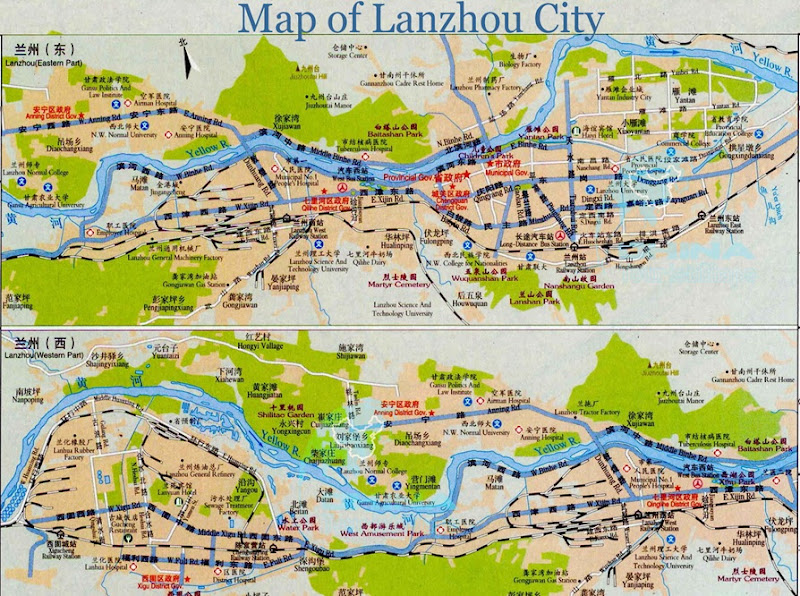 Map-of-Lanzhou-City