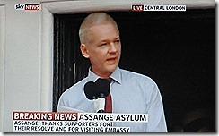 Julian Assange grato pela  firmeza dos apoiantes.