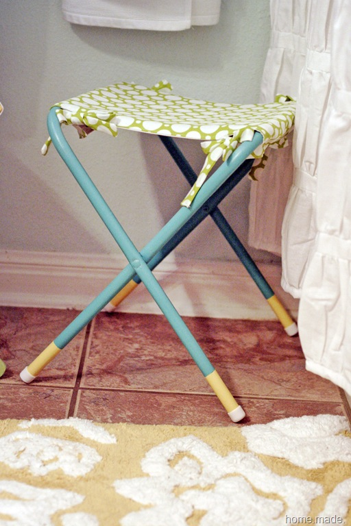 turquoise and lime stool